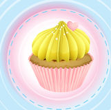 A cupcake and a wallpaper Royalty Free Stock Photos