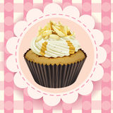 Cupcake and a wallpaper Royalty Free Stock Images