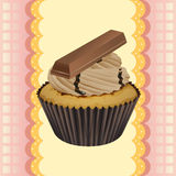 Cupcake and a wallpaper Royalty Free Stock Photo