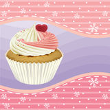 Cupcake and a wallpaper. Illustration of an  cupcake and a wallpaper Royalty Free Stock Photography