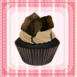 Cupcake and a wallpaper Royalty Free Stock Photography