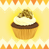 A cupcake and a wallpaper Stock Image