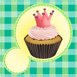 Cupcake and a wallpaper Stock Photography