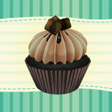 Cupcake and a wallpaper. Illustration of an isolated cupcake and a wallpaper Royalty Free Stock Photo
