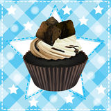 Cupcake and a wallpaper Stock Image