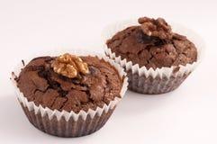 Cupcake walnut Royalty Free Stock Photography