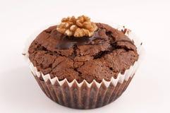 Cupcake walnut Royalty Free Stock Image