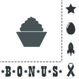 Cupcake, web icon. vector design Stock Photo