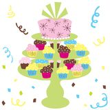 Cupcake wedding cake Royalty Free Stock Photography