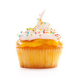 Cupcake with whipped cream Royalty Free Stock Photos