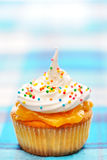 Cupcake with whipped cream Stock Images