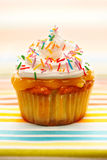 Cupcake with whipped cream Stock Photo