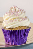 Cupcake with whipped double cream Stock Photo
