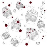 Cupcake on the  white background Royalty Free Stock Images