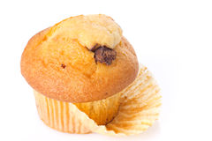 Cupcake on white background Stock Photos