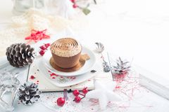 Cupcake with white brown cream Royalty Free Stock Photo
