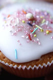 Cupcake with white topping Royalty Free Stock Photos