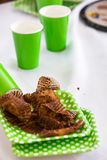 Cupcake Wrappers And Disposable Cups Royalty Free Stock Photo