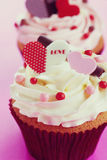 Cupcake wwith love a Stock Photography
