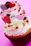 Cupcake wwith love Royalty Free Stock Photography