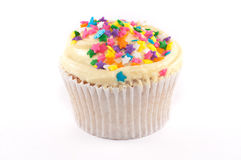 Cupcake with yellow frosting Stock Image