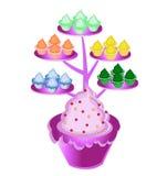 Cupcakeboom Stock Afbeelding