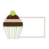 Cupcakeetiket Royalty-vrije Stock Fotografie