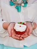 Cupcakehanden Stock Fotografie
