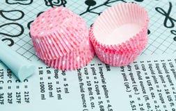 Cupcakeomslagen Royalty-vrije Stock Foto's