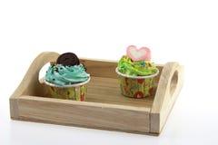 Cupcakepastelkleur Stock Afbeeldingen