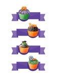 cupcakes αποκριές Στοκ Εικόνες