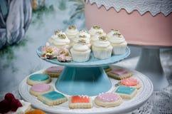 cupcakes γάμος Στοκ Φωτογραφία