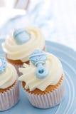 Cupcakes για ένα ντους μωρών Στοκ Εικόνες