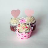Cupcakes για μια πριγκήπισσα Στοκ Εικόνες