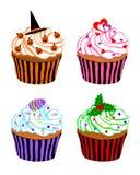 cupcakes εορταστικός απεικόνιση αποθεμάτων