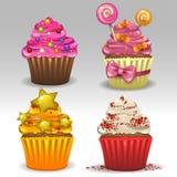 cupcakes εορταστικός διανυσματική απεικόνιση