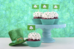 cupcakes ημέρα patricks ST Στοκ Φωτογραφίες