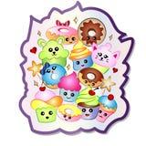 Cupcakes και Doughnuts Doodle Στοκ φωτογραφία με δικαίωμα ελεύθερης χρήσης