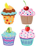 cupcakes καρπός Στοκ φωτογραφία με δικαίωμα ελεύθερης χρήσης