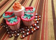 cupcakes μάρμαρα Στοκ Φωτογραφίες