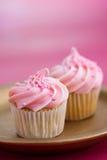 cupcakes μίνι ροζ στοκ φωτογραφία