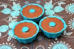 Cupcakes με τη σοκολάτα στοκ εικόνες