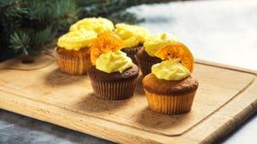 cupcakes νόστιμος Στοκ Εικόνες