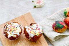 cupcakes Πάσχα Στοκ Εικόνα