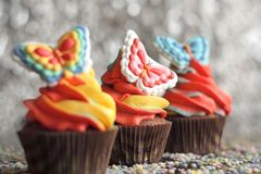 cupcakes Πάσχα Στοκ φωτογραφίες με δικαίωμα ελεύθερης χρήσης