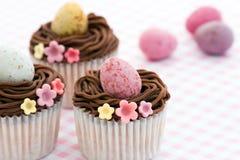 cupcakes Πάσχα Στοκ Εικόνες