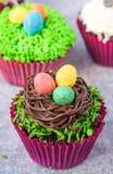 cupcakes Πάσχα Στοκ Φωτογραφία