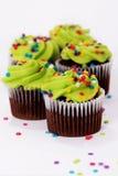 cupcakes παγωμένος πράσινος Στοκ Φωτογραφίες