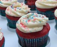 cupcakes πατριωτικός Στοκ Εικόνες