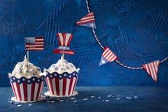 Τέταρτο της Cupcakesης Ιουλίου στοκ εικόνες